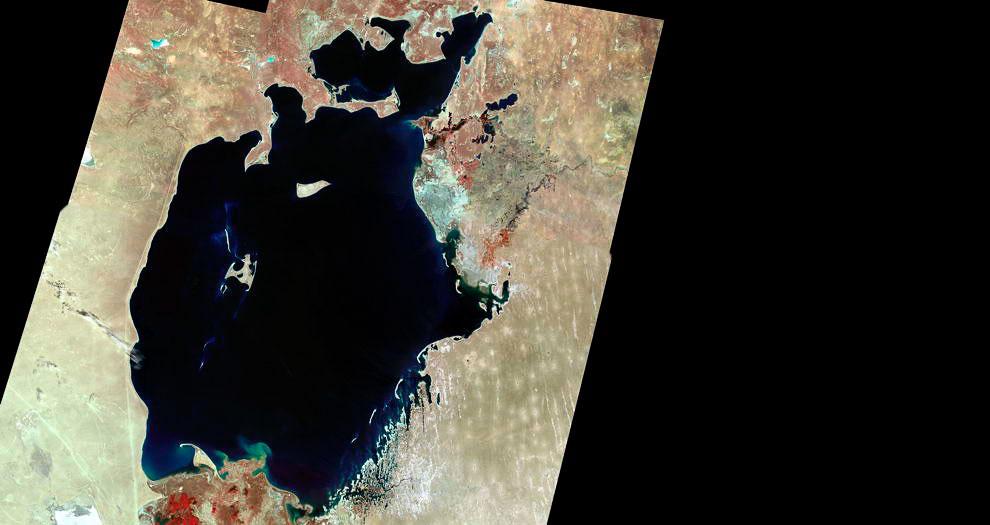 Фото NASA. Аральское море в 1970 году