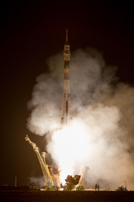 Старт космического корабля «Союз ТМА-09М» с космодрома Байконур