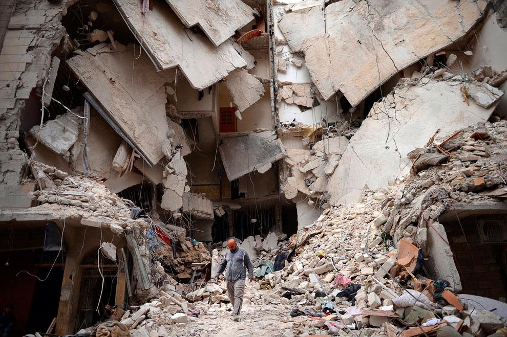 Руины древних городов. Так выглядит город Алеппо сегодня