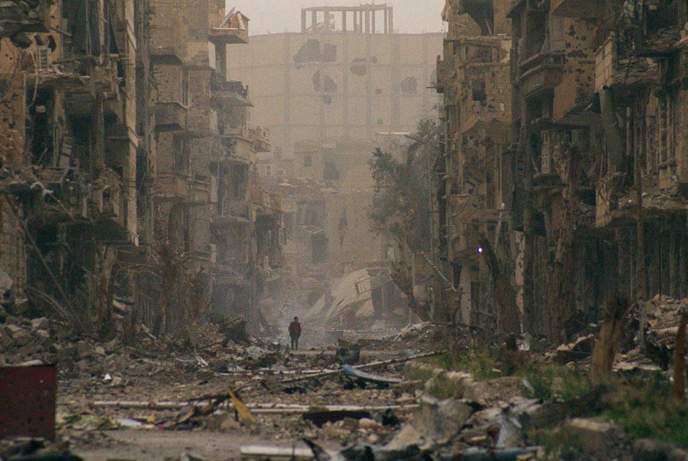 Разрушенный гражданской войной город-призрак Дейр-эз-Зор на северо-востоке Сирии