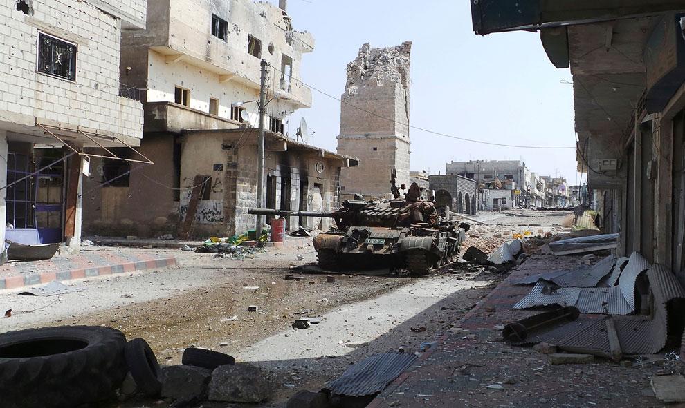 Подбитый танк, в провинции Дераа, Сирия