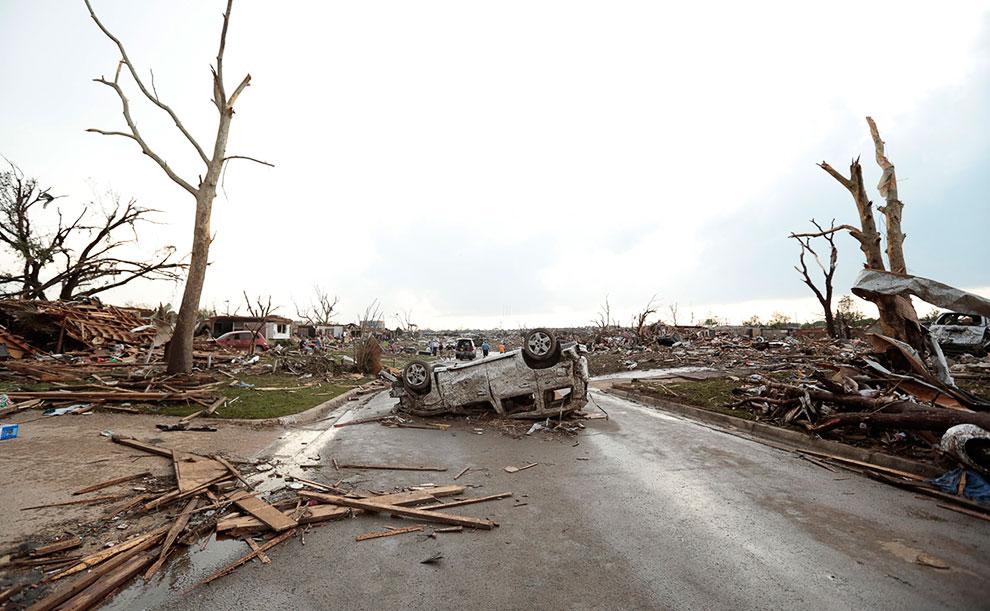 Сила торнадо в городе Мур, штат Оклахома была F4 по шкале Фудзита-Пирсона
