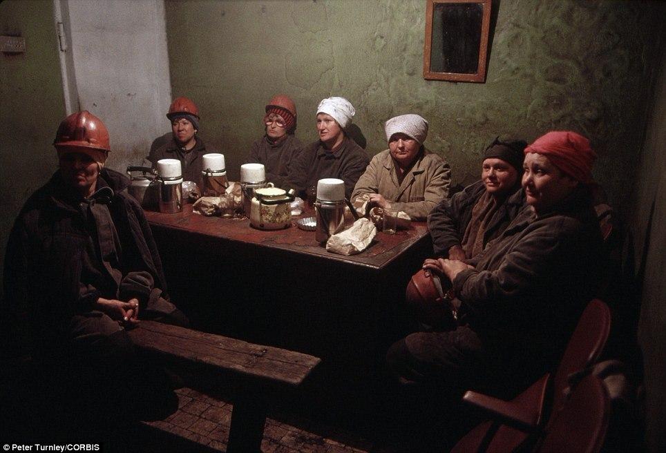 Перерыв у шахтеров, Новокузнецк, 1991 год