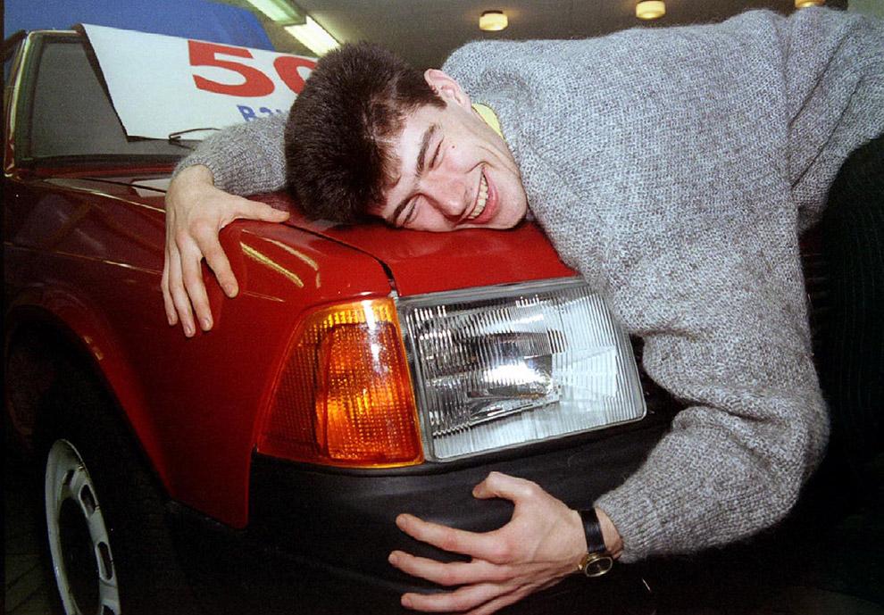Выигравший в лотерею автомобиль «Москвич», ноябрь 1994 год