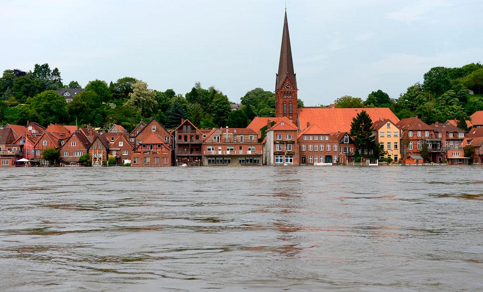 Центр города Лауэнбург (федеральная земля Шлезвиг-Гольштейн)