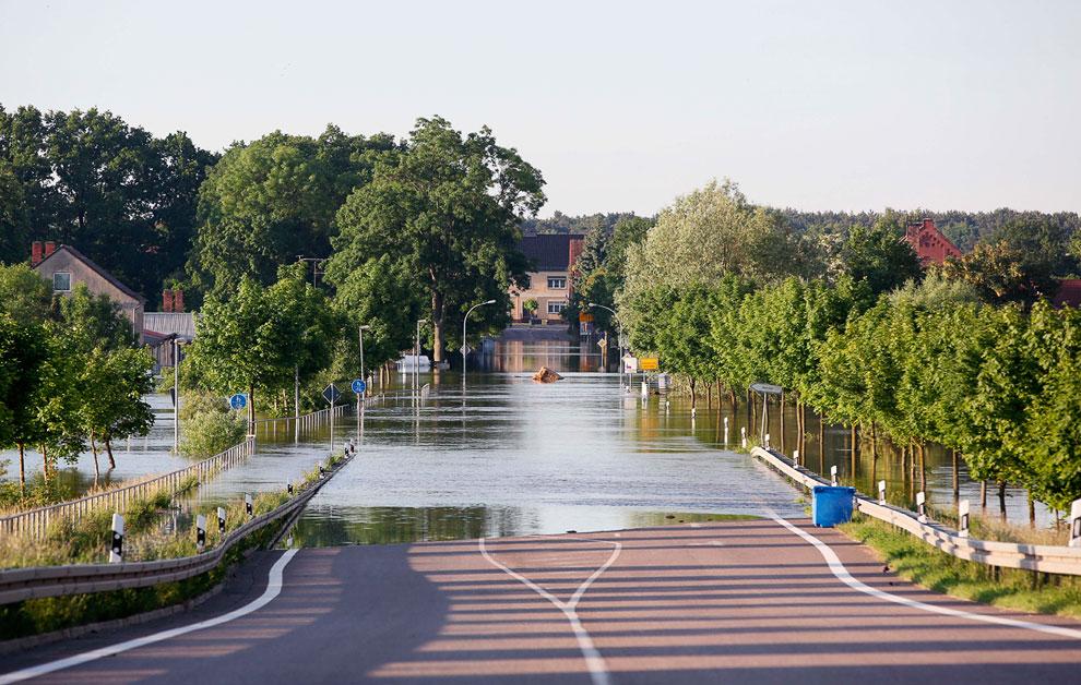Затопленные улицы Шёнхаузена, Германия