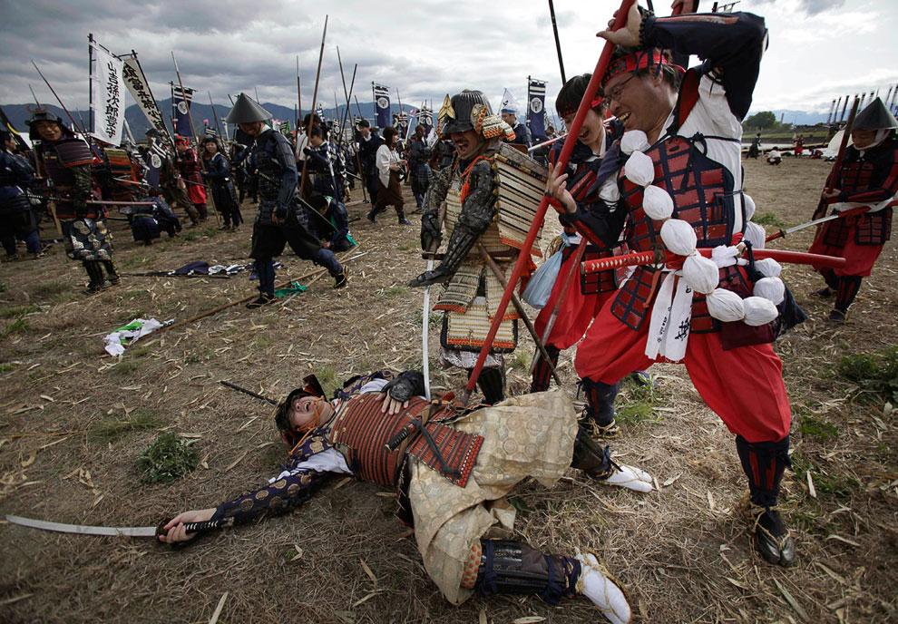 Военно-историческая реконструкция битвы при Каванакадзима