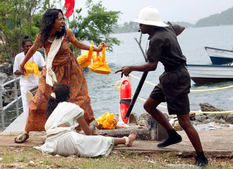 Реконструкция Дня прибытия индейцев в Тринидад и Тобаго