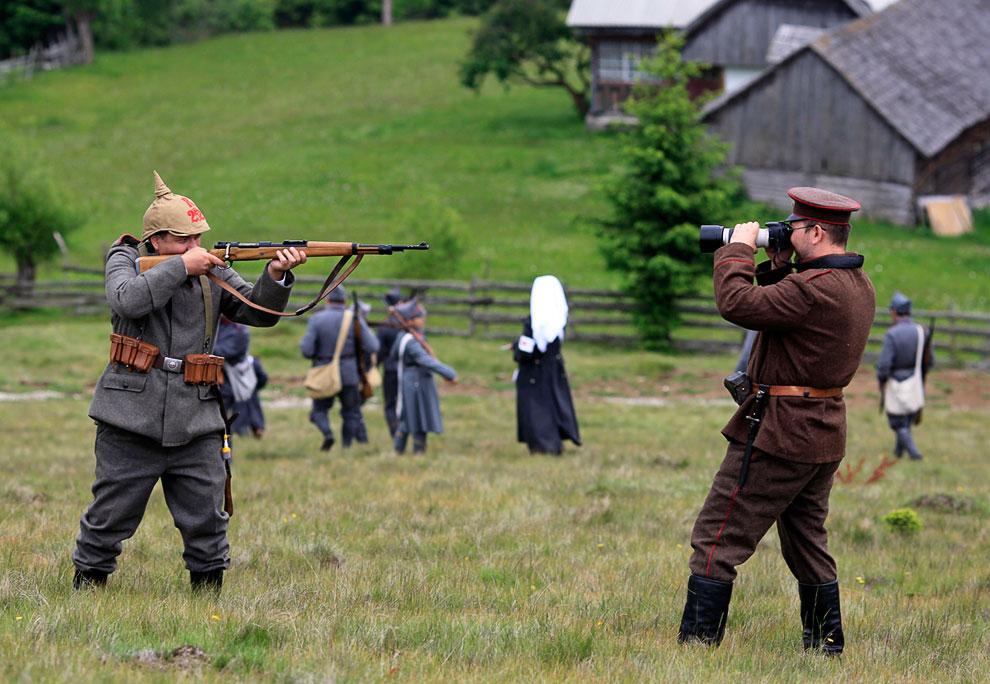 Реконструкции сражения в Первой мировой войне