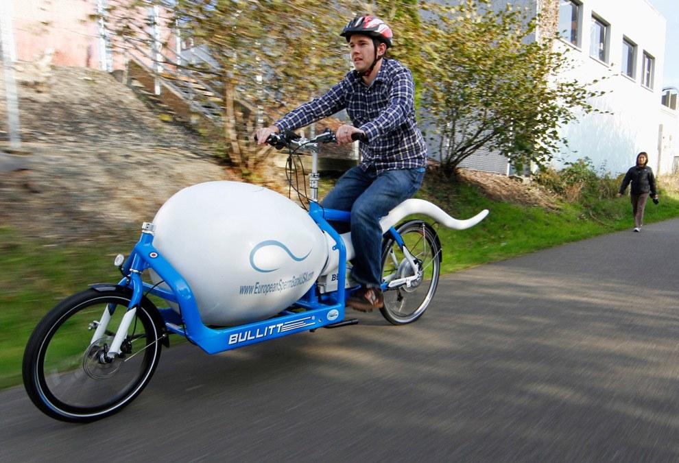Высокотехнологичные велосипеды для доставки донорской спермы для клиник по искусственному оплодотворению в Сиэтле