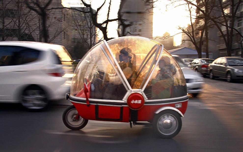 Электрический трицикл в Пекине