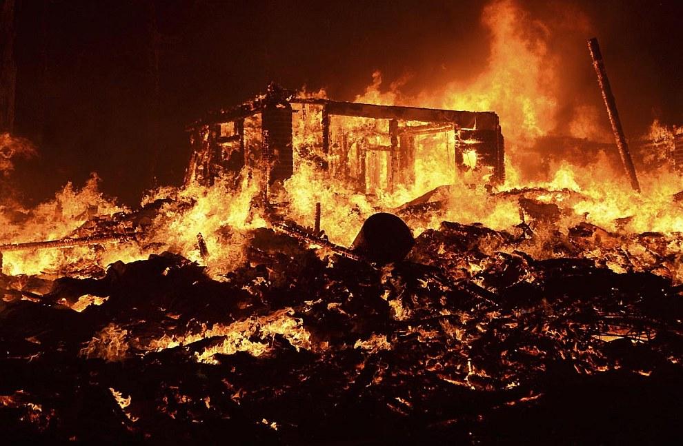 Догорающий дом, Калифорния