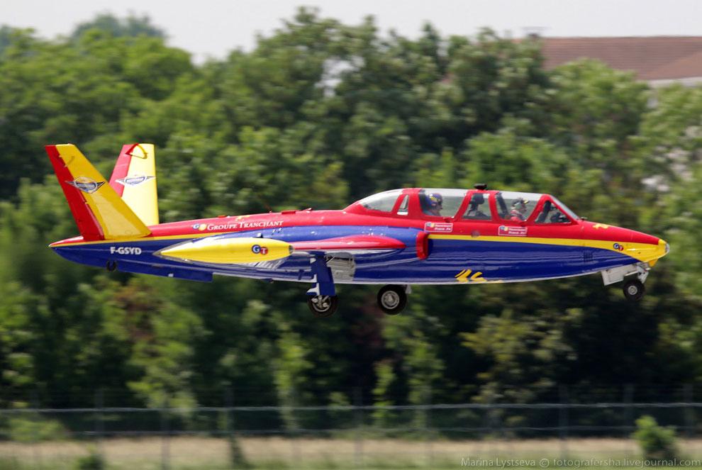 Fouga СМ.170 Magister дымит