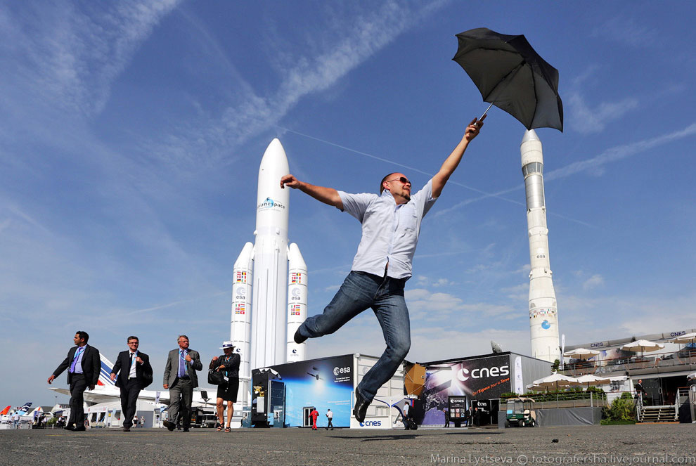 Это была лётная программа авиасалона Ле Бурже 2013