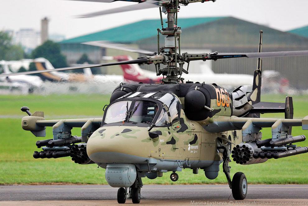 Российский боевой вертолёт Ка-52 «Аллигатор»