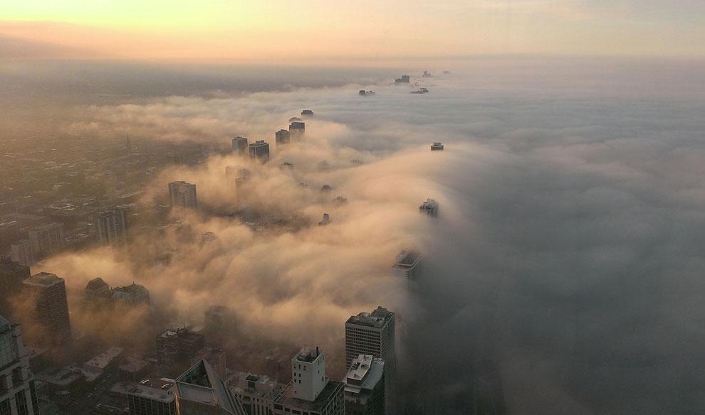 Туман в Чикаго, штат Иллинойс