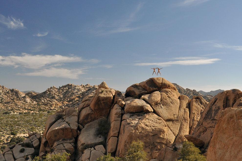 Фото на память в национальном парке США Джошуа-Три