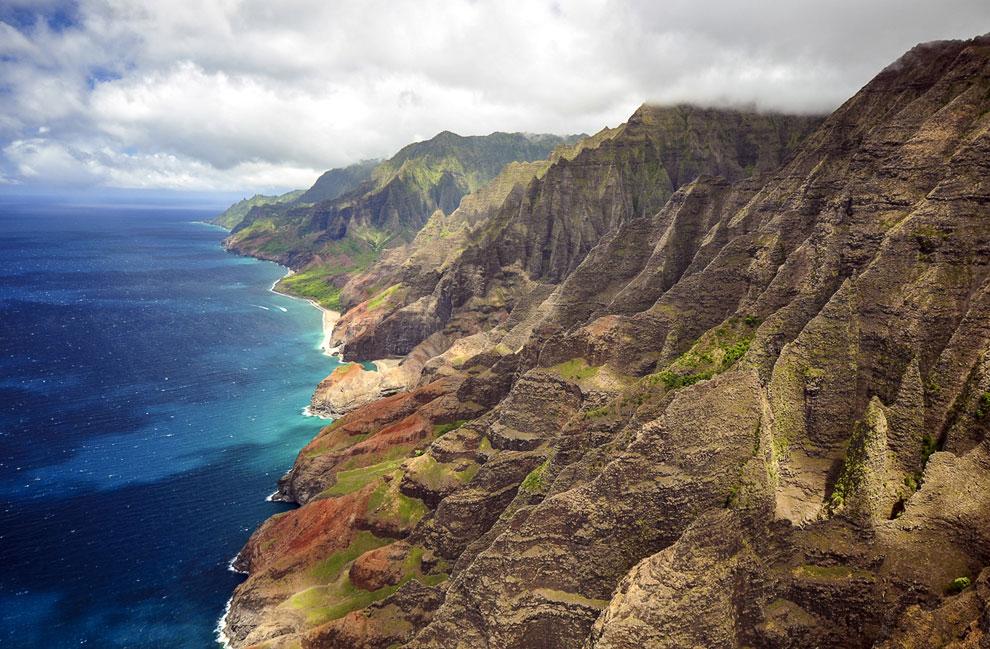 Неприступные скалы побережья На-Пали, Гавайи