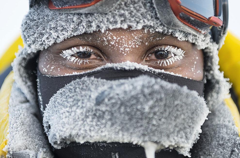 Участник экспедиции Гринпис на Северный полюс