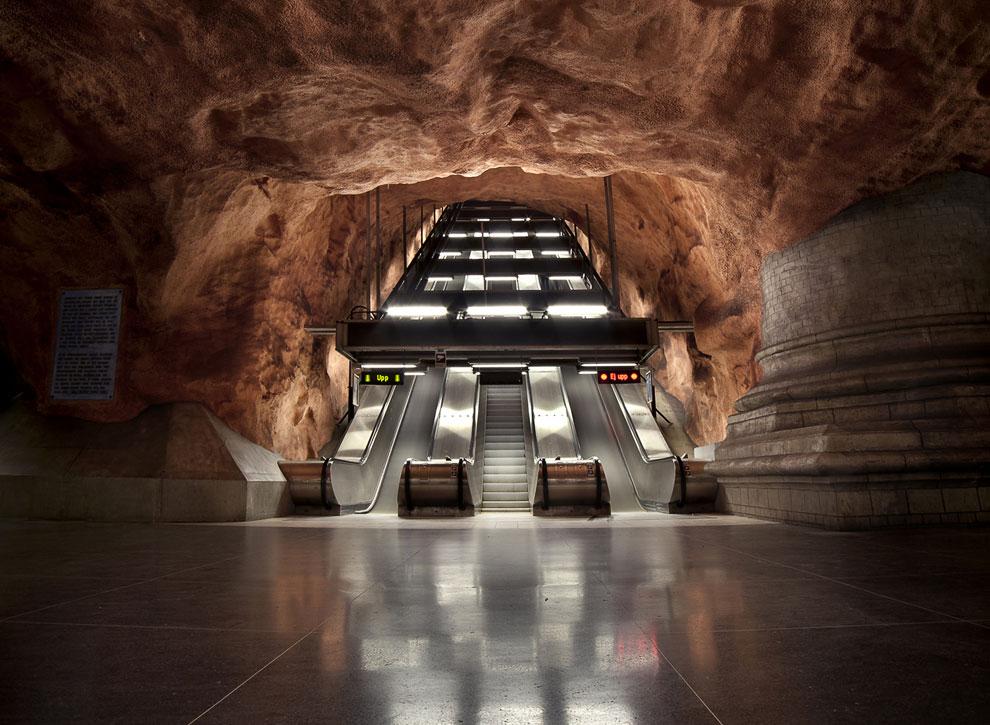 Заброшенная станция метро в Стокгольме, Швеция