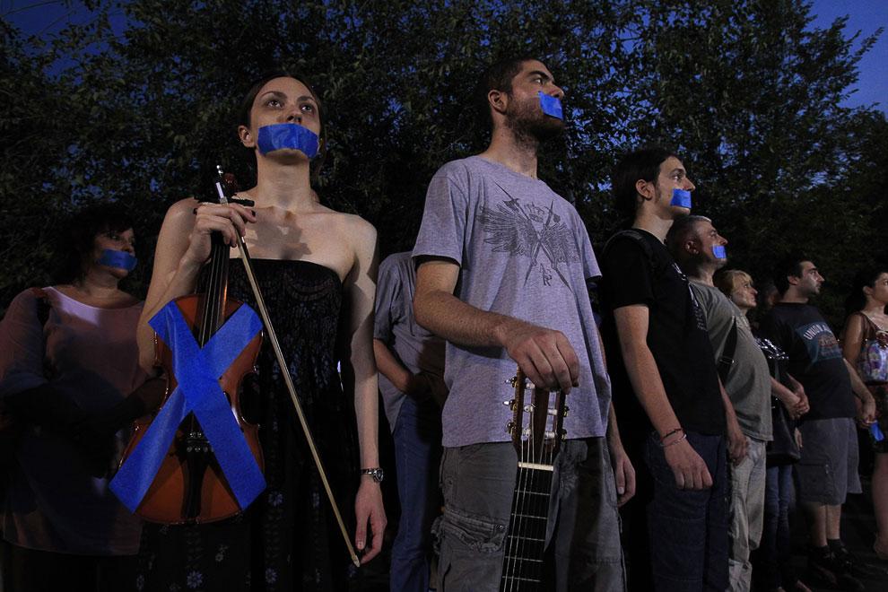 Греция. Забастовка в связи с закрытием государственной телекомпании ERT