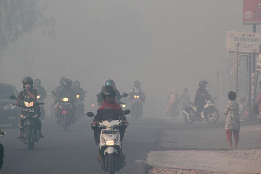 Смог на острове Суматра