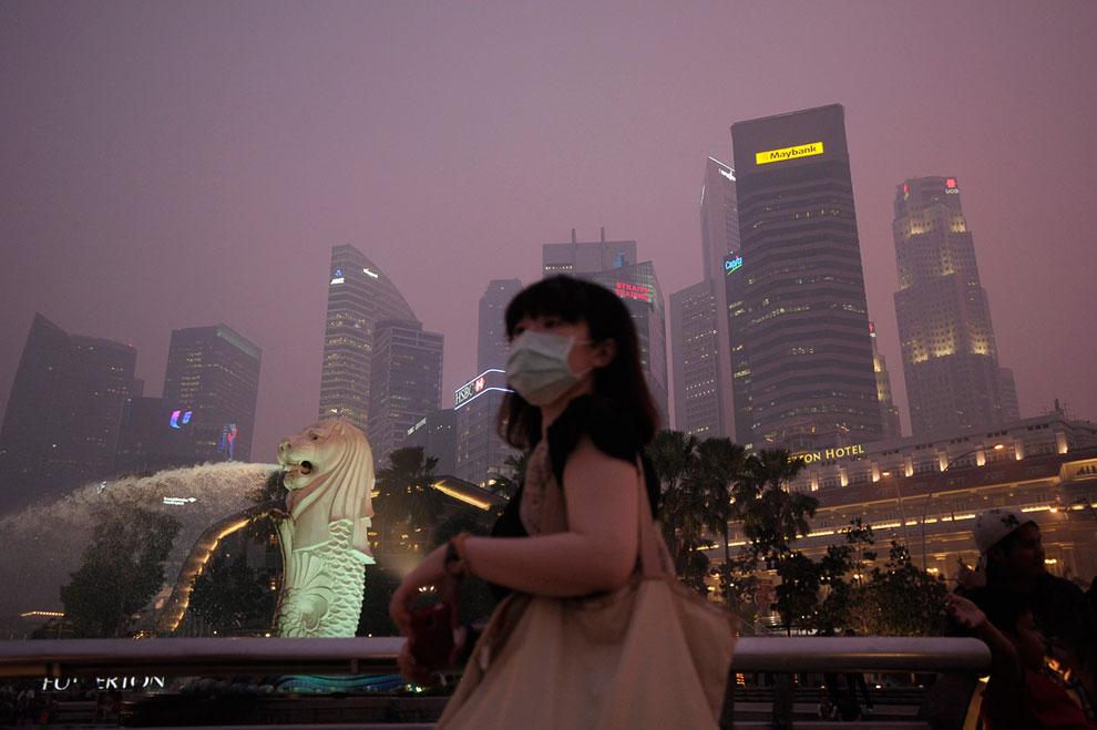 Это был короткий репортаж о сильнейшем смоге в Сингапуре