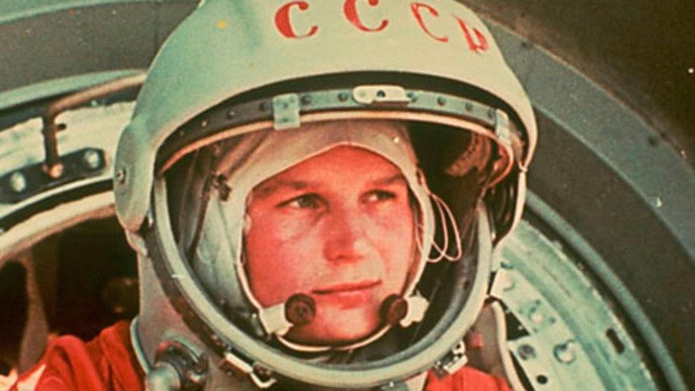 Терешкова в скафандре, 1963 год