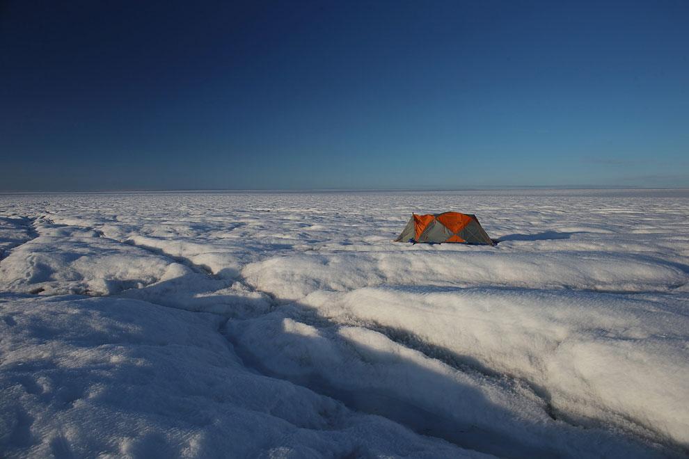 Палатка ученых-исследователей ледникового покрова, Гренландия