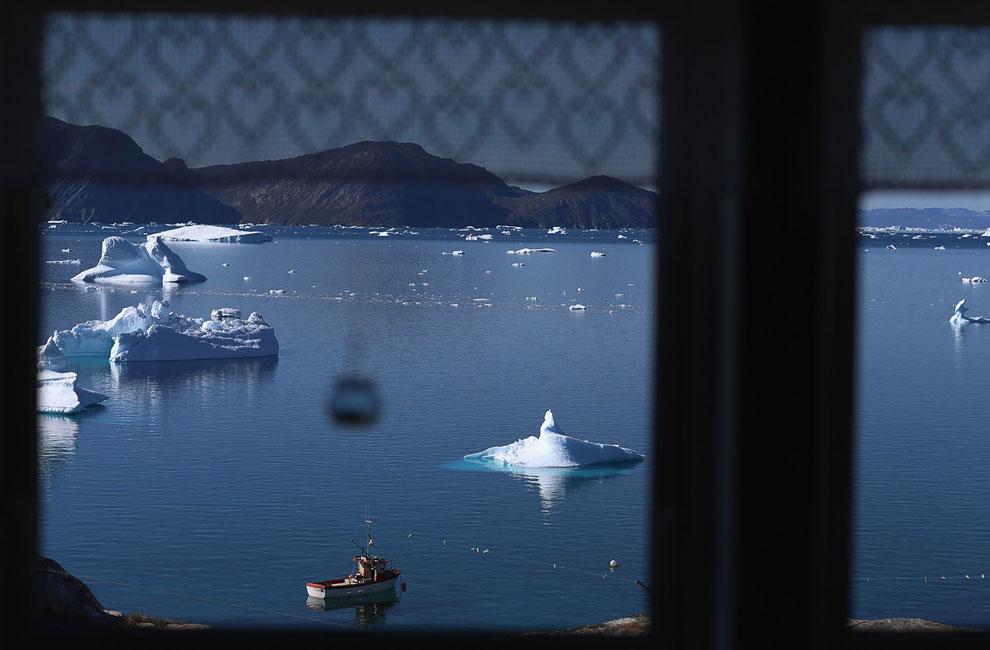 Вдохновляющие виды из окна жилого дома на айсберги