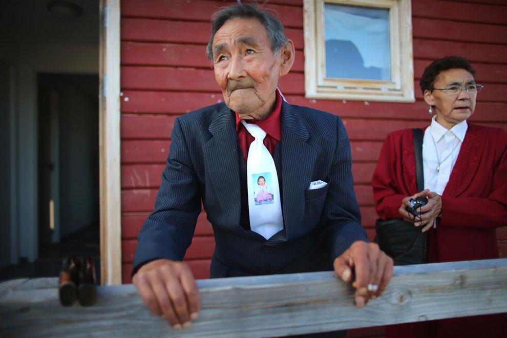 Дедушка невесты при параде