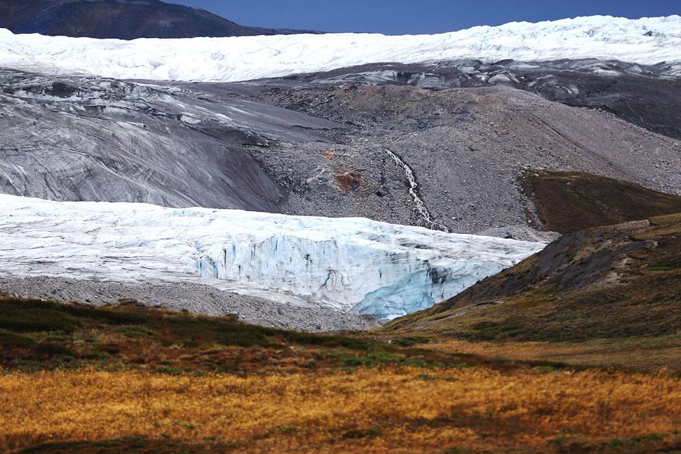 Это ледник около Кангерлуссуака — поселения в западной Гренландии
