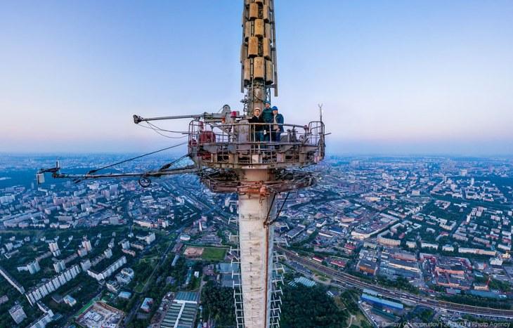 Останкинская телебашня. Вид на Москву с высоты 503 метра