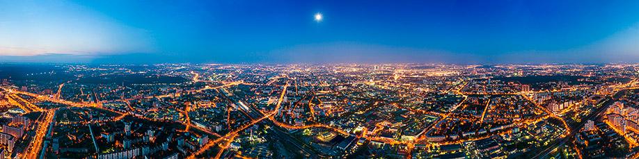Ночная панорама Москвы
