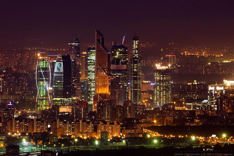 Москва-Сити с высоты 340 метров