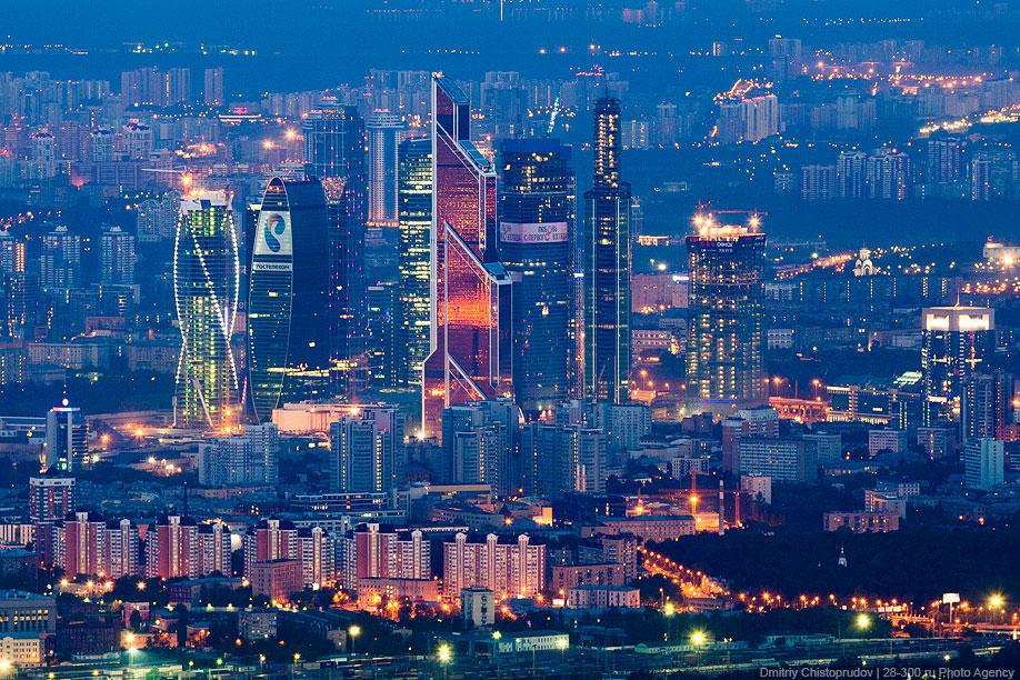 Москва-Сити с высоты 504,5 метра