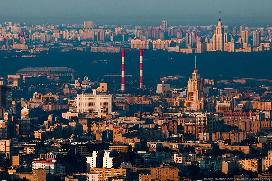 Дом Правительства, Гостиница Украина, Лужники и МГУ