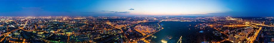 Останкинская телебашня. Вид на Москву с высоты 340 метров