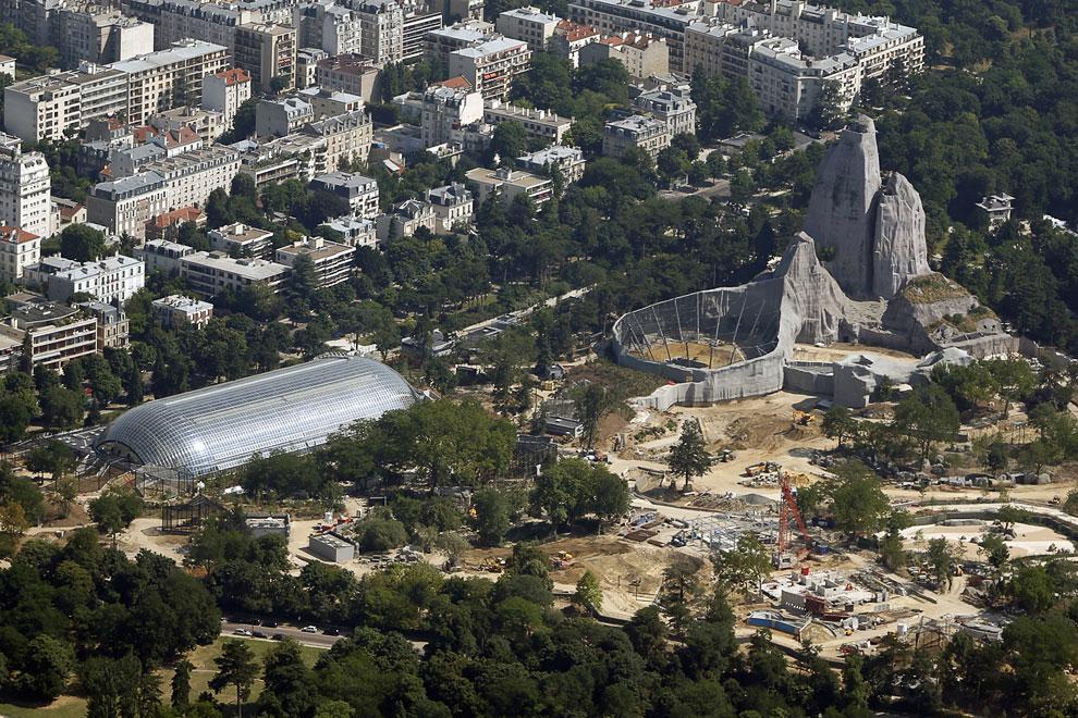 Строительство в зоопарке на востоке Парижа
