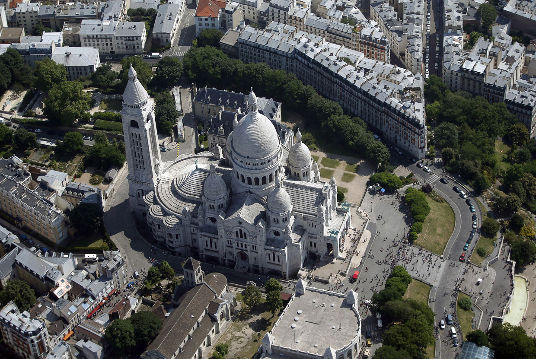 Еще одна фотография базилики Сакре-Кёр с высоты