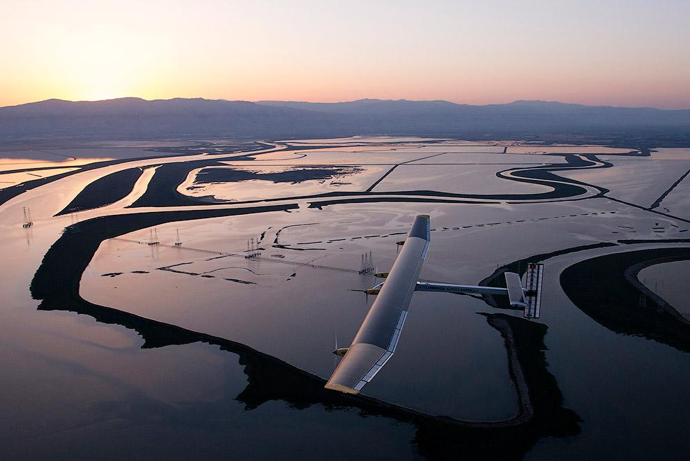 «Солнечный Импульс» летит из Сан-Франциско в Финикс, 3 мая 2013