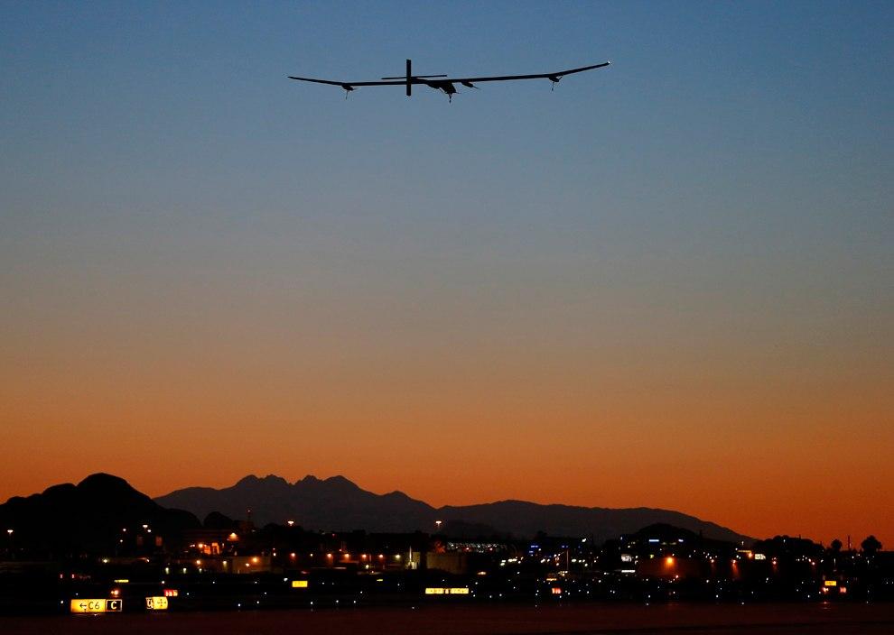 «Солнечный Импульс» продолжает перелет по Америке, 22 мая 2013