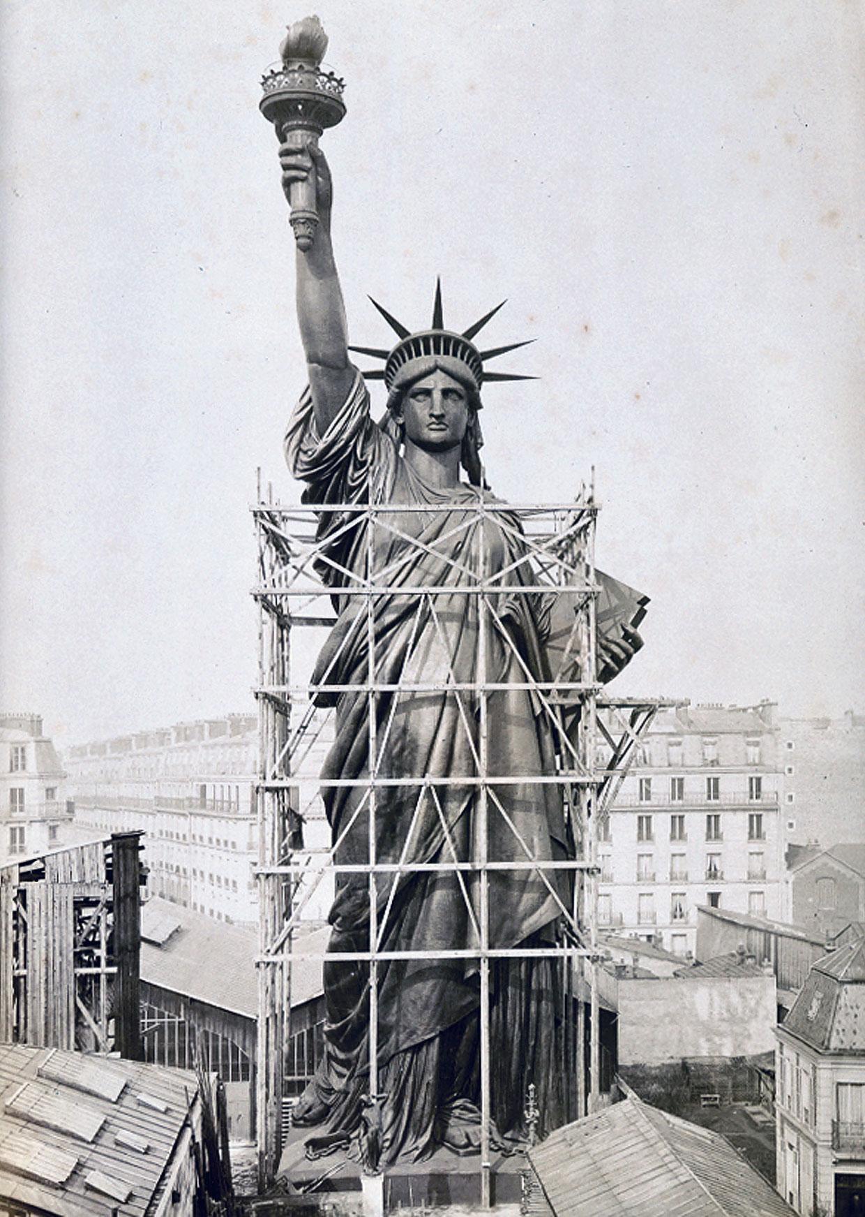 Статуя Свободы около мастерской скульптора Бартольди, Париж, 1884 год