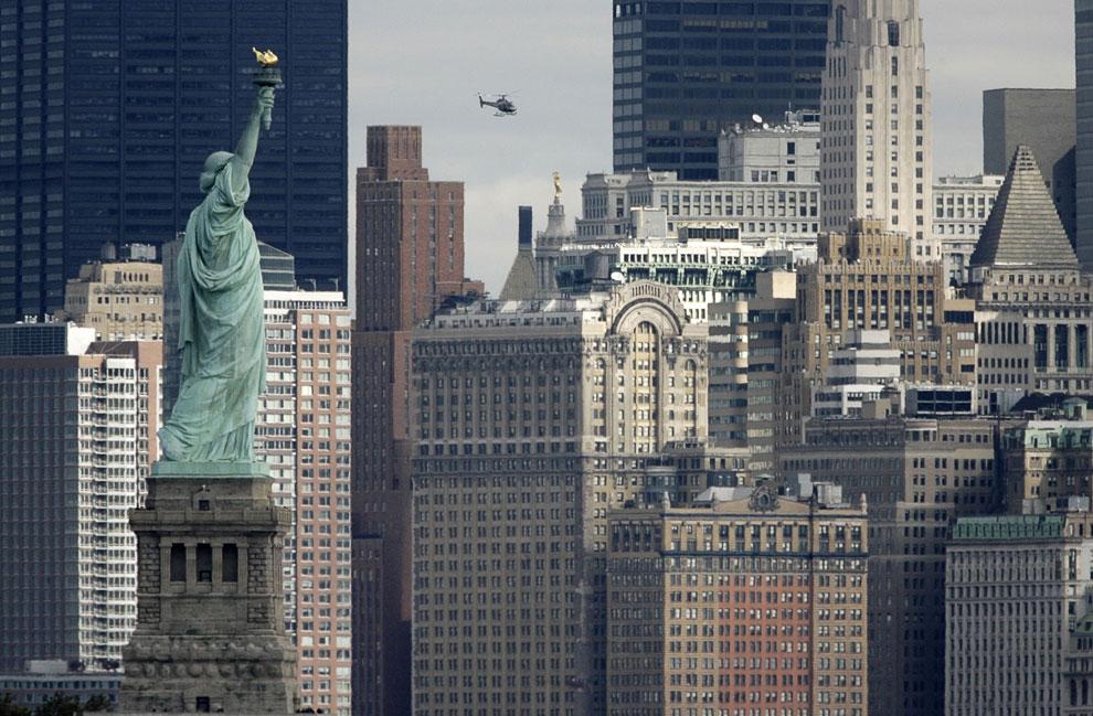 Статуя Свободы и нижний Манхэттен