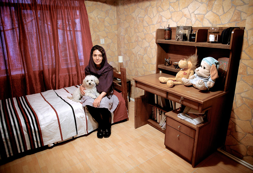 Хозяйка со своей собакой, Тегеран, Иран
