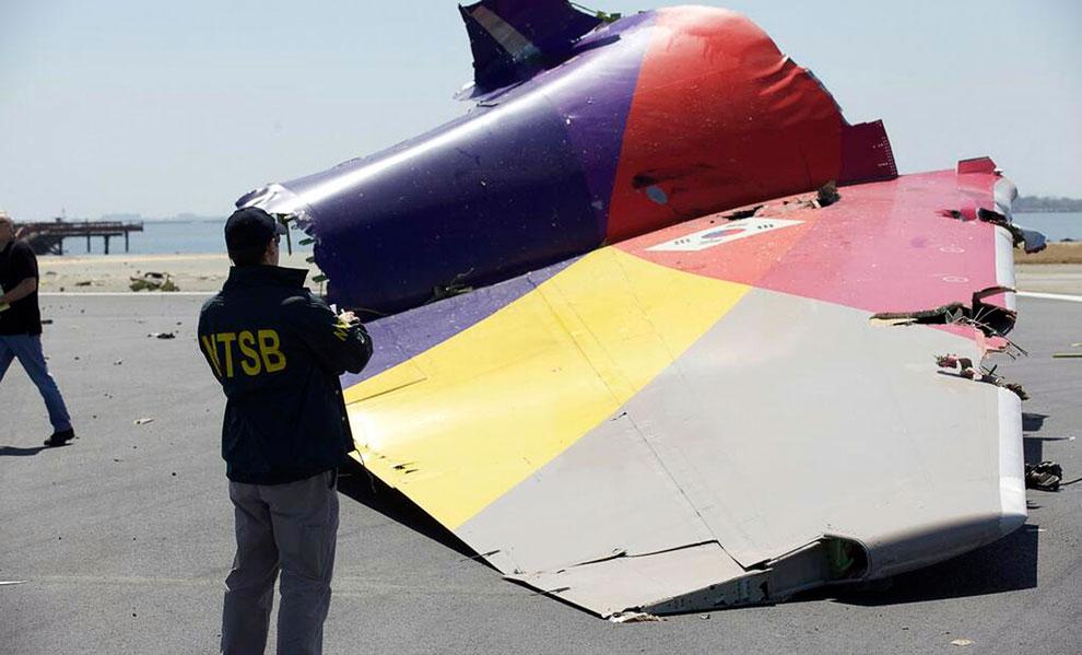 Отвалившаяся хвостовая часть самолета