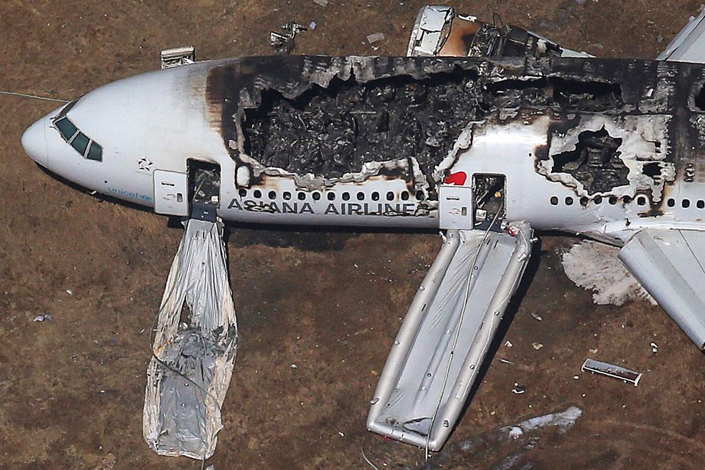 Крушение лайнера Боинг-777 в Сан-Франциско