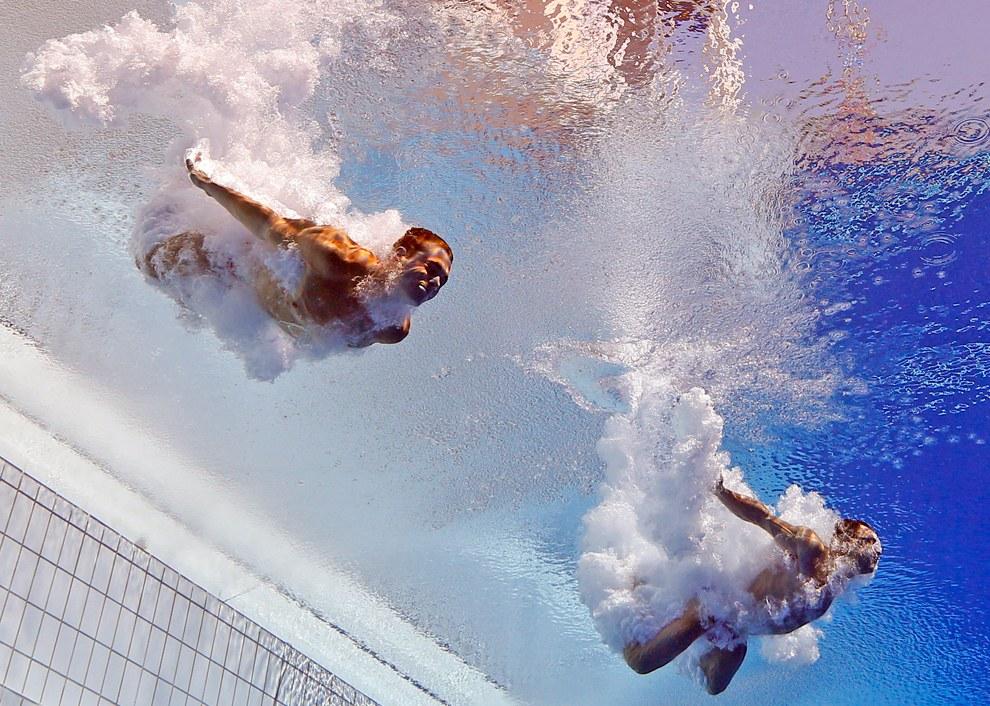 Спортсмены из США в синхронном прыжке с 3-метрового трамплина
