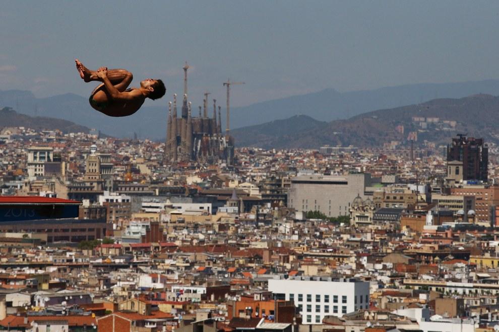 Соревнования по прыжкам с 10-метрового трамплина