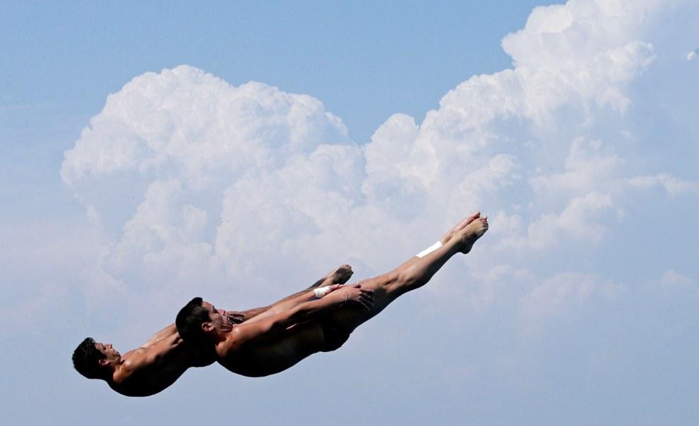 Соревнования по синхронным прыжкам с 3-метрового трамплина